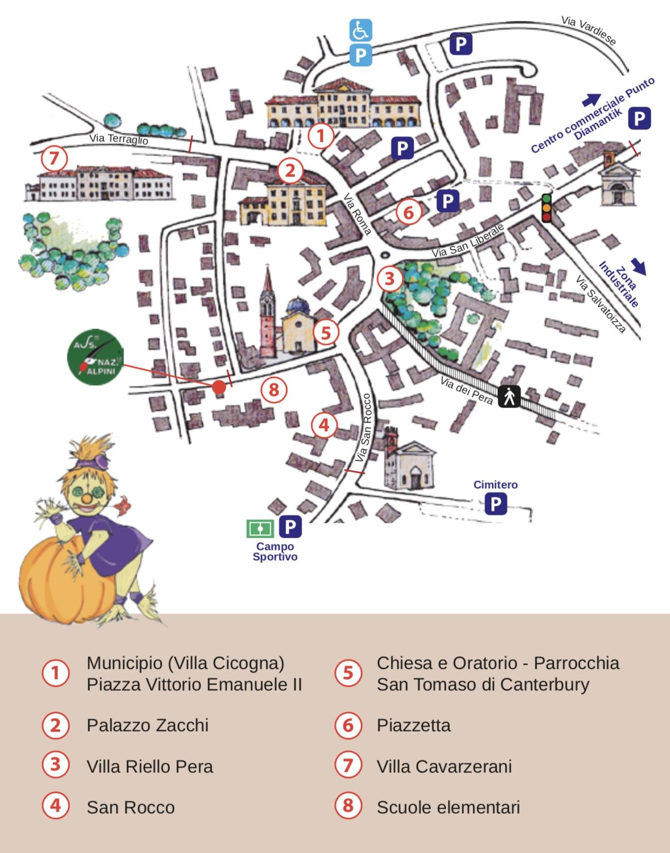 Mappa della Manifestazione